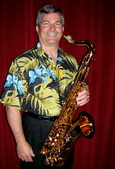 Jurgen Schwarze plays with the Express band